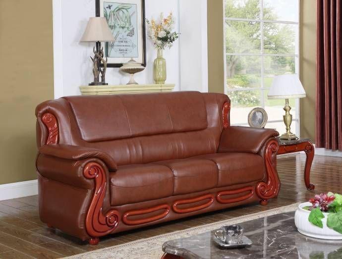 meridian 632 bella brown bonded leather living room sofa traditional rh pinterest com