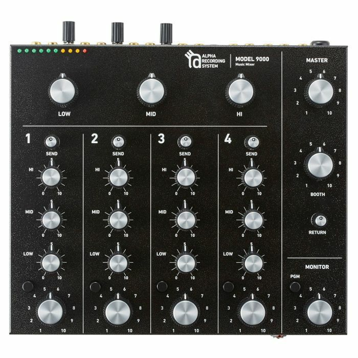 Alpha Recording System ARS Model 9000 Rotary Tabletop DJ Mixer