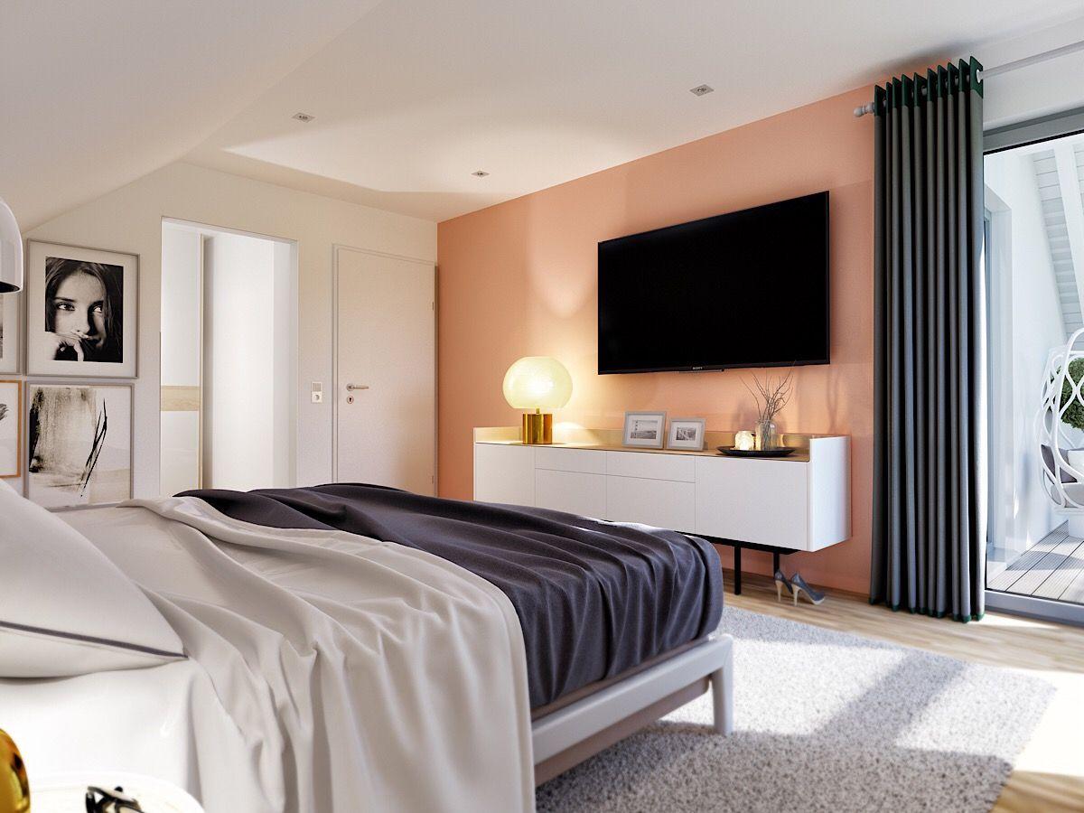 Schlafzimmer Ideen modern mit Dachschräge Haus