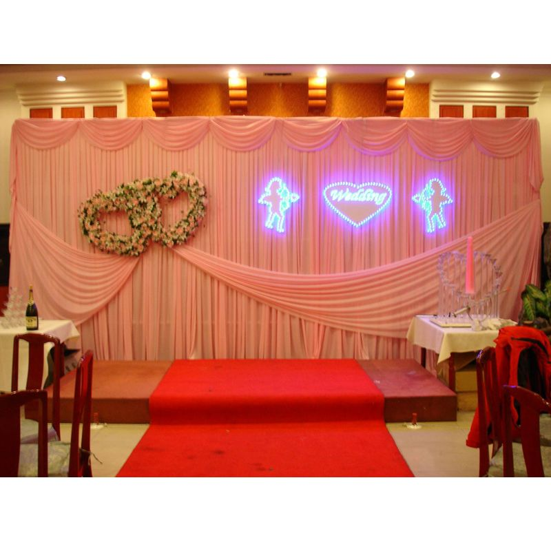 wedding stage decoration pics%0A  Free Shipping  Buy Best  x  m jade pink wedding backdrop curtain