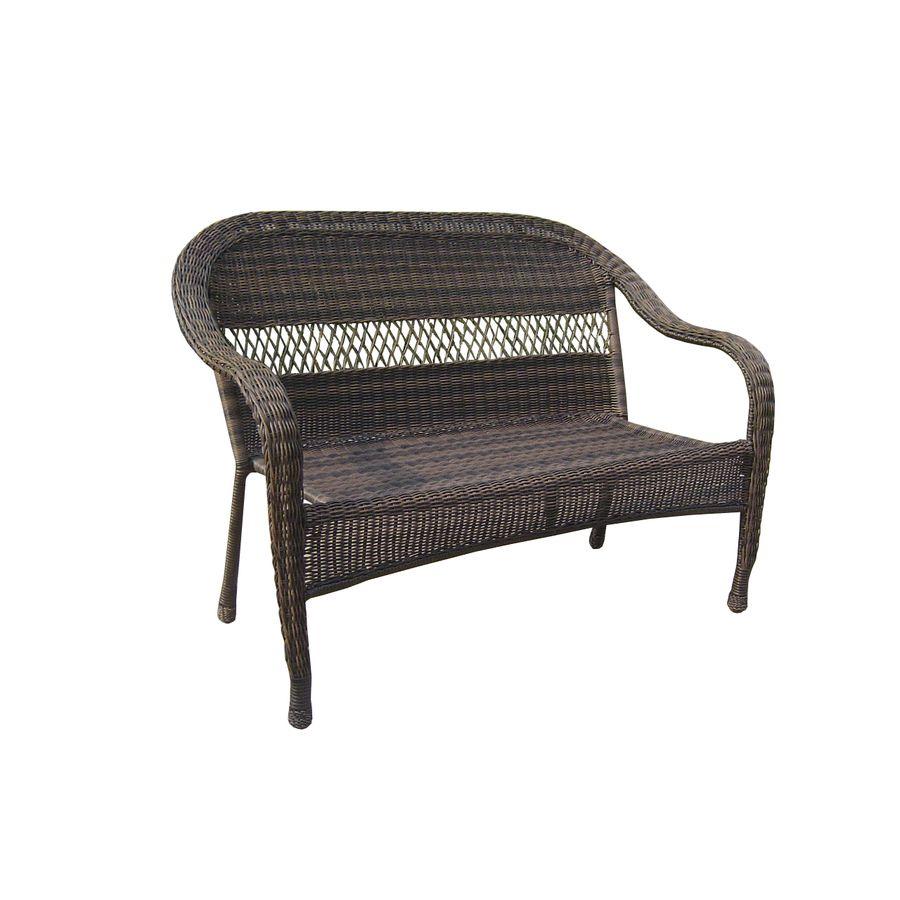 shop garden treasures severson textured black steel woven seat patio rh pinterest com