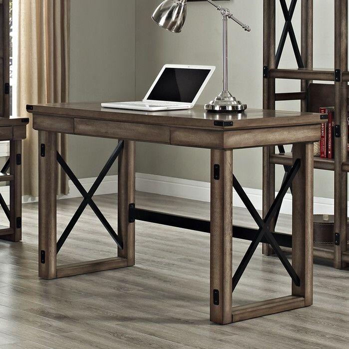 wildwood writing desk with metal frame new room desk writing rh pinterest com