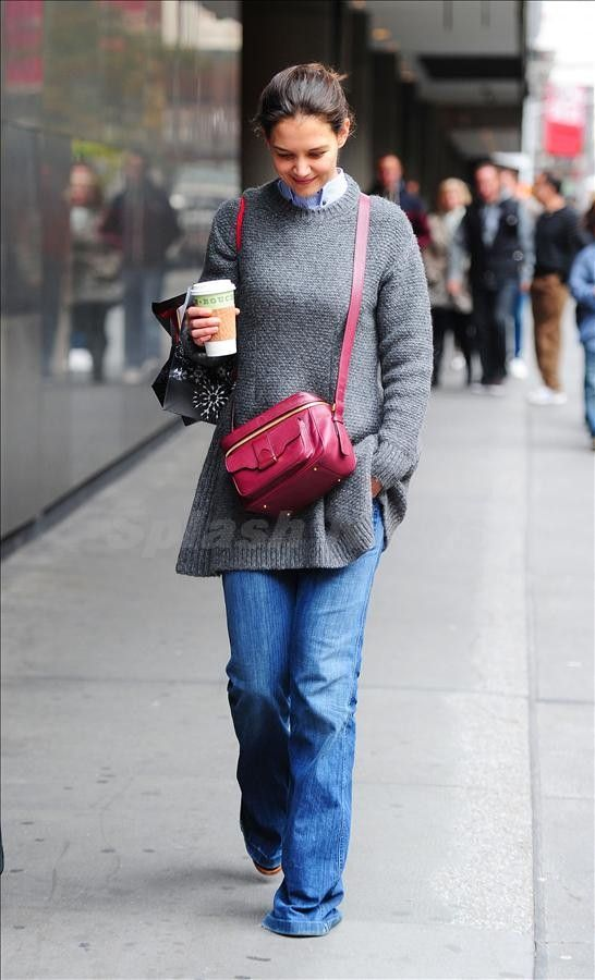 Hurricane Sandy has taken its toll on New Yorkers and Katie Holmes was no exception as she returned to work.
