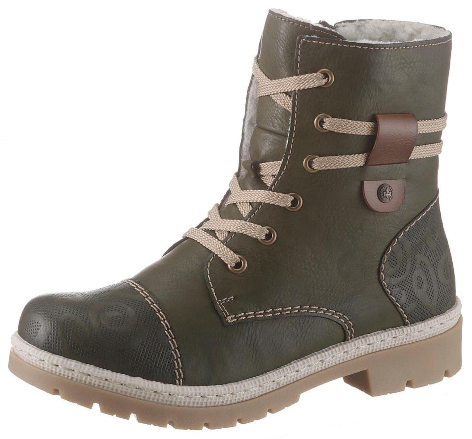 Rieker L0256, Damen Sneaker, Beige (champignonlino