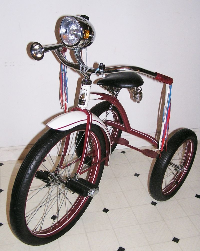 Antique Tricycle Horn : Vintage firestone super chief pontiac indian tricycle