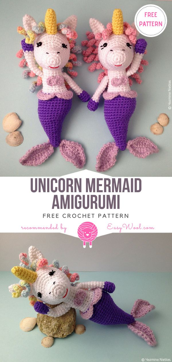 Amigurumi little mermaid free pattern | 1260x600