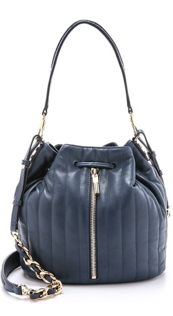 b67f04bcec4 navy blue quilted leather bucket bag   BAGY   Pinterest   Bucket ...