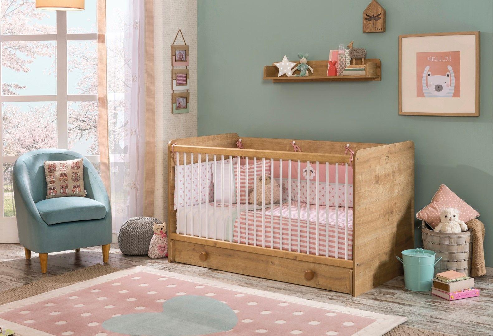 Babykamer Jongens Meuble : Stockholm babykamer jongens hout look baby babybed ledikant