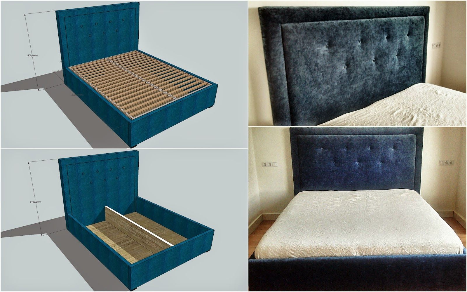 Livingroom: Lova su patalynės dėže / Bed with storage box