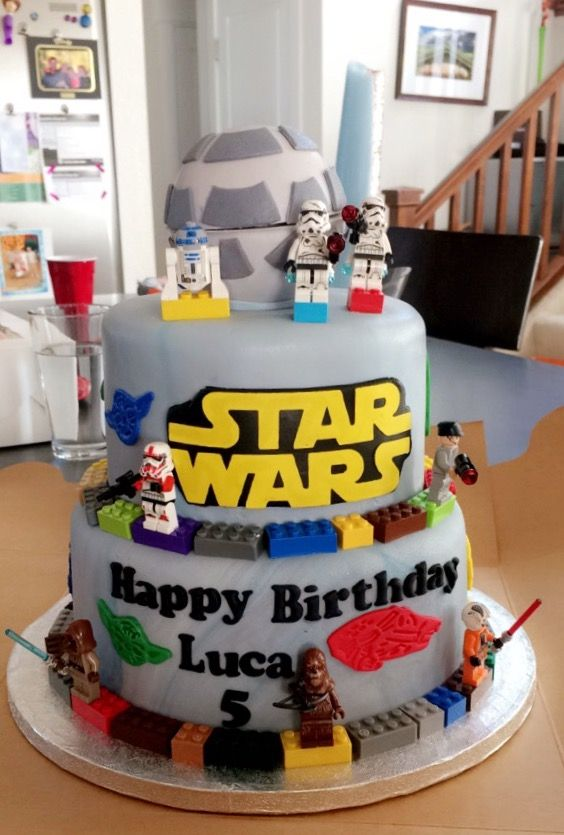 Star Wars Lego Cake Lego Cake Cake Birthday