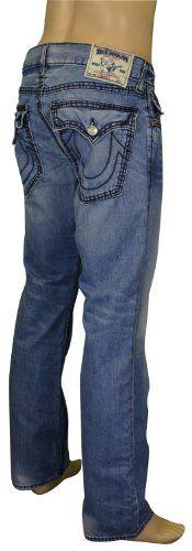 True Religion Brand Men's Straight Leg Flap Pocket Denim Jeans