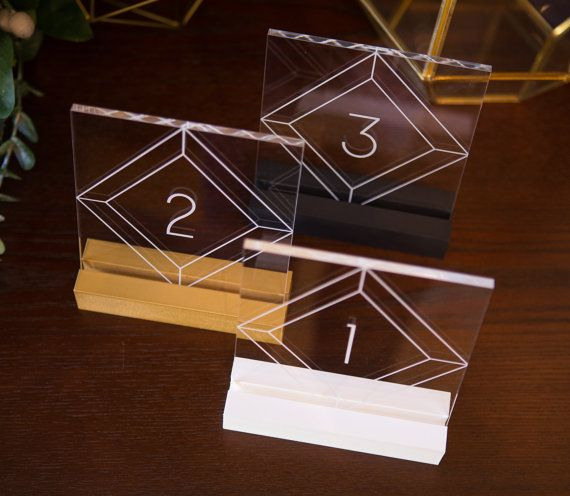 Acrylic Table Numbers for Wedding Tables Party or Event