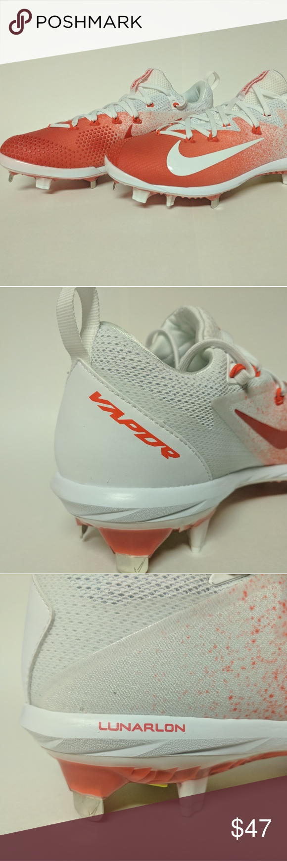 7086f79602d9 Nike Lunar Vapor Ultrafly Elite Metal Baseball 9.5 Nike Lunar Vapor  Ultrafly Elite Metal Baseball Cleats 9.5 Red/ White 852686-618 New without  Box Will ship ...