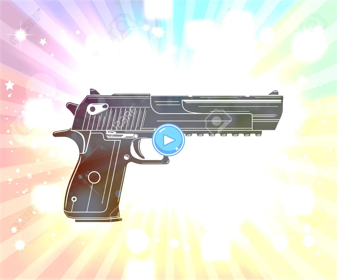 pistol handgun on white Illustration powerful pistol handgun on white Illustration  Movimiento de piernas  Rotación Parte 1 Hoja de referencia Consejos para el dib...