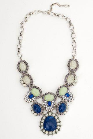 Blue De Malte Oval Necklace