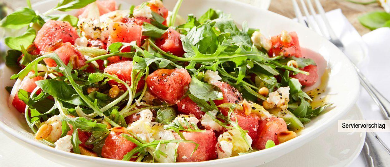 Wassermelonensalat Rezept Salat Mit Melone Wassermelonensalat