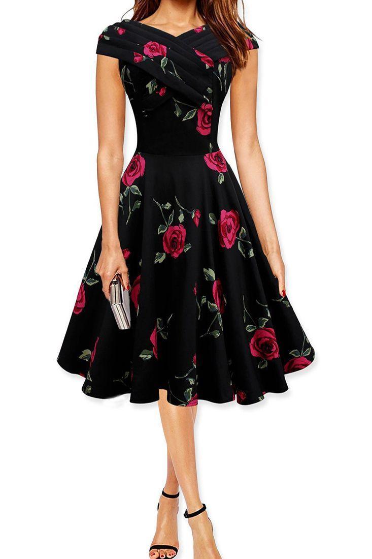 the dress is featuring rose printing. it flaunts a slight a-like silhouette. 6e7d5e590e