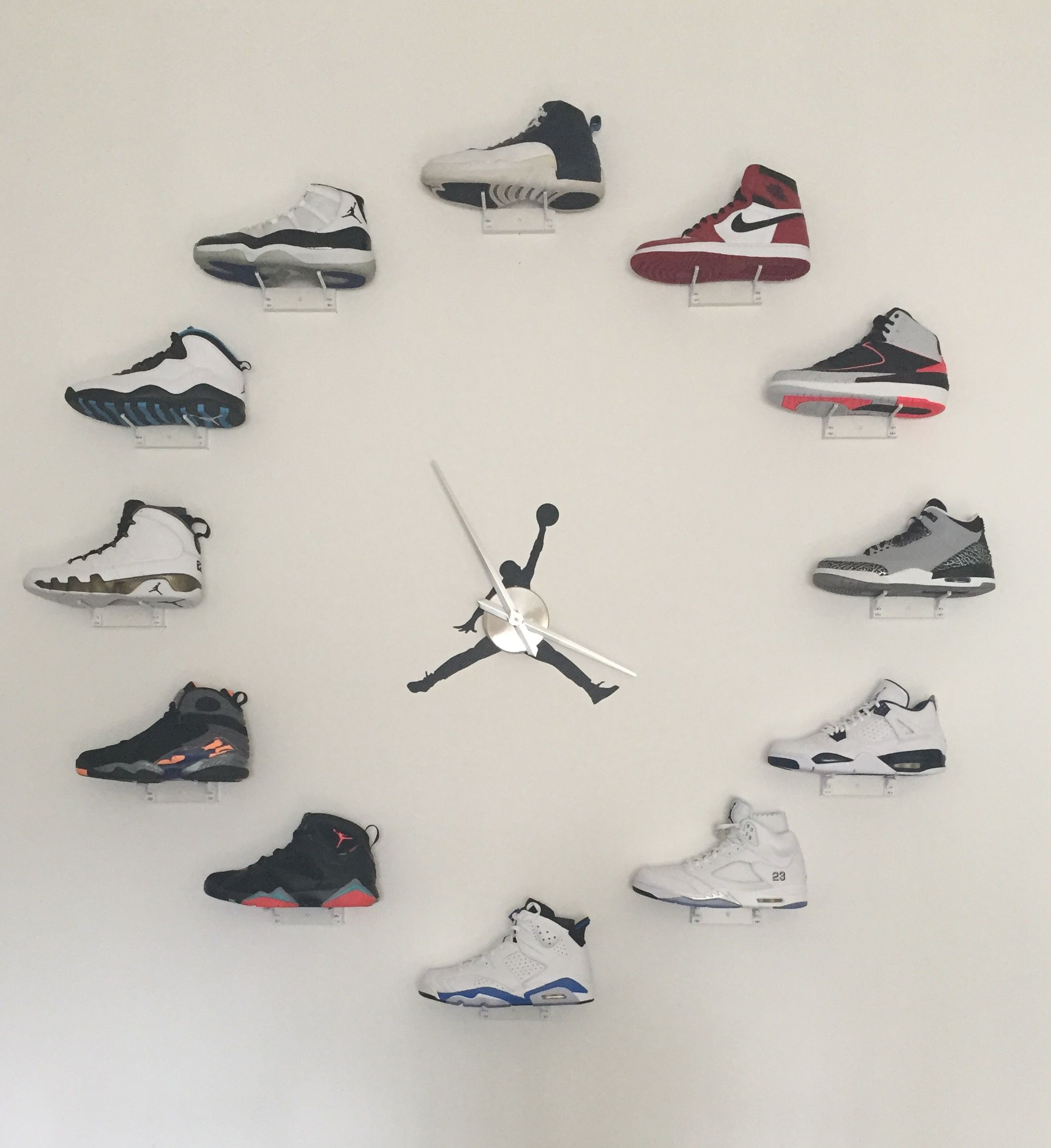 My Jordan Clock Project Finally Complete Jordan Clock Shoe Room