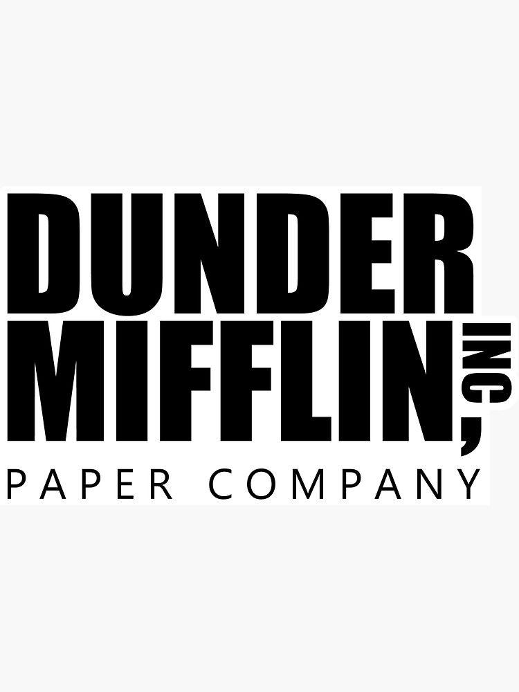 Dunder Mifflin Logo B W Sticker Sticker By Pickledbeets In 2021 The Office Stickers The Office Show Mifflin