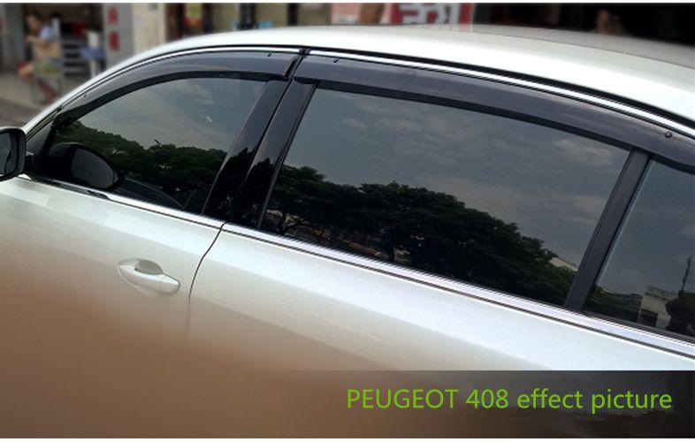 FIT FOR PEUGEOT 408 2009-2016 SIDE WINDOW RAIN DEFLECTORS GUARD ...