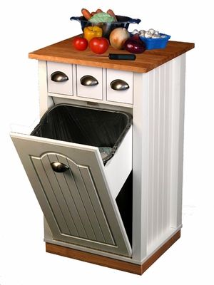 Trash Can Pantry Cabinet that Holds 13 Gallon Bags - I ...