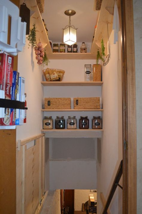 Wood Storage Under Stairs