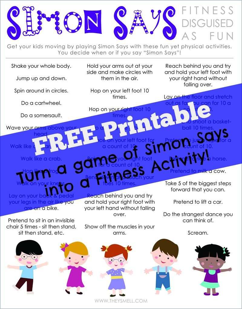 free printable to help keep kids healthy u0026 active fitness