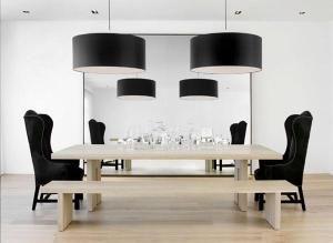 Nicole Hollis black eclectic minimal modern Danish