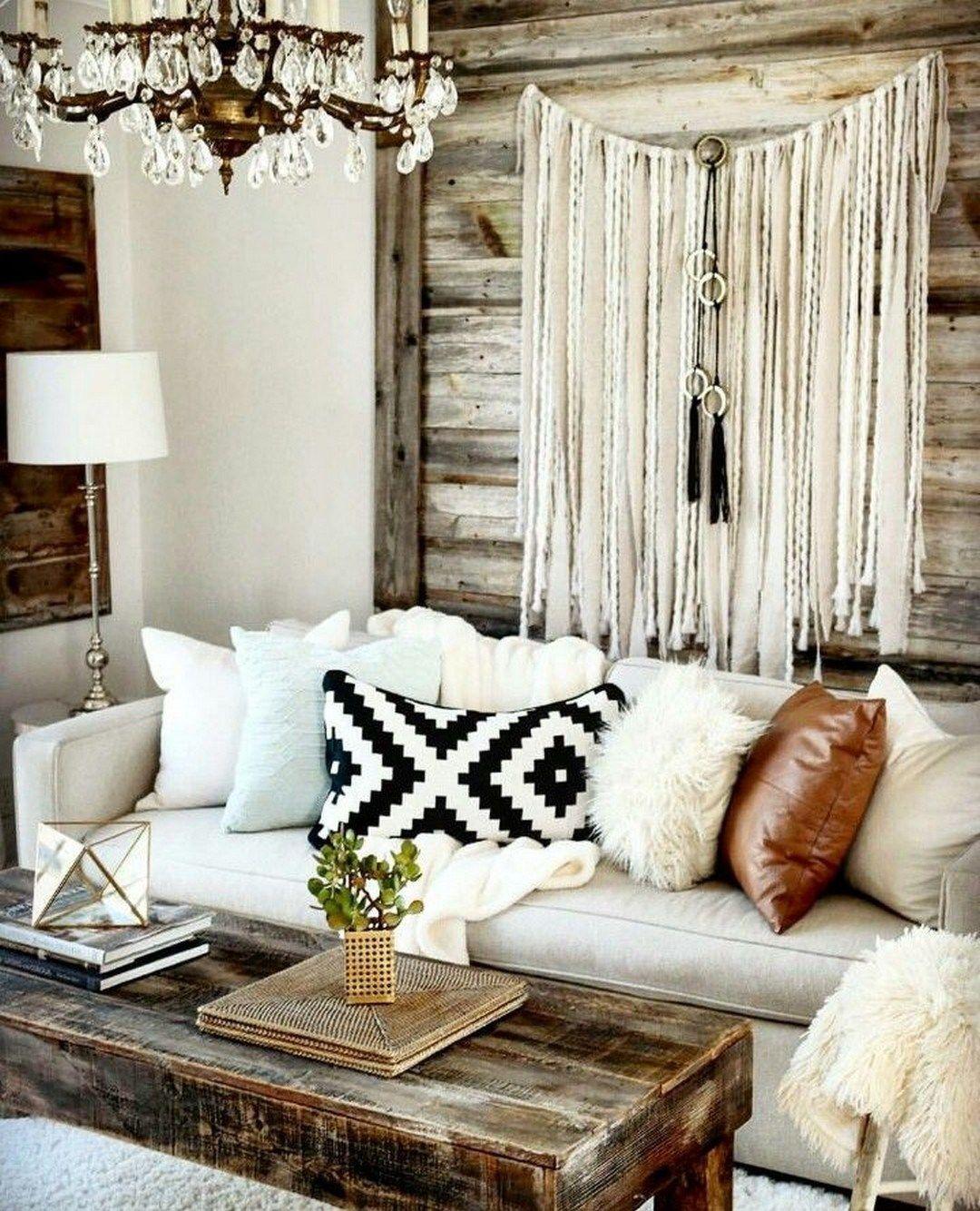 52 rustic farmhouse bohemian decorating ideas home wohnzimmer