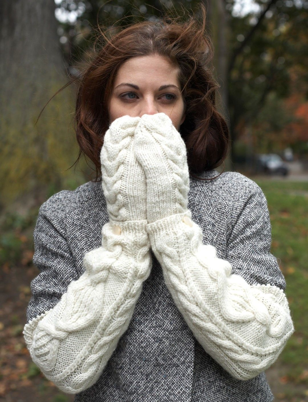 Modern Knitted Arm Warmers Pattern Illustration - Sewing Pattern for ...