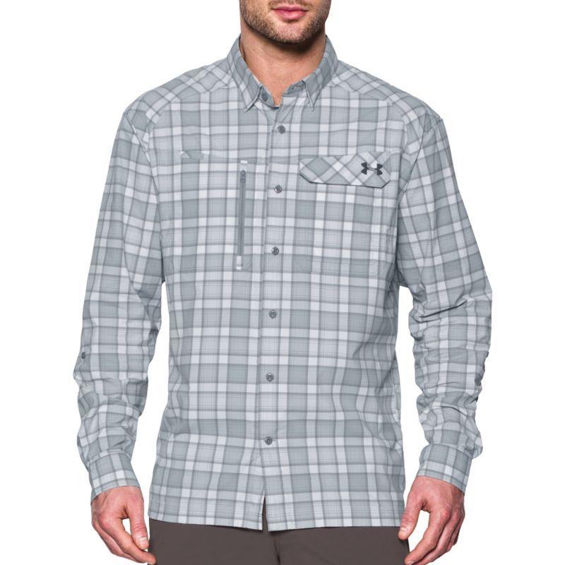 b27f7434 Under Armour Men's Fish Hunter Long Sleeve Shirt, Size: Medium, Gray ...