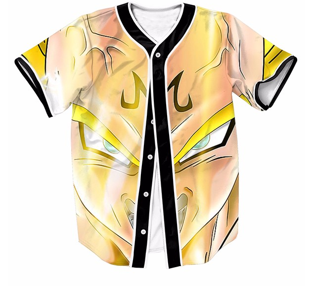 DBZ Super Saiyan Prince Vegeta Angry Streetwear Hip Hop 3D Baseball Jersey   DBZ  SuperSaiyan  Prince  Vegeta  Angry  Streetwear  HipHop  3D  Baseball    ... 8727839b4