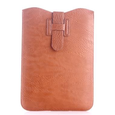 Orange Leather Pouch Case for 8 Inch Tablet