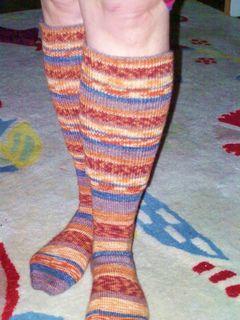 Easy comfy knee sock pattern for the standard gauge ...