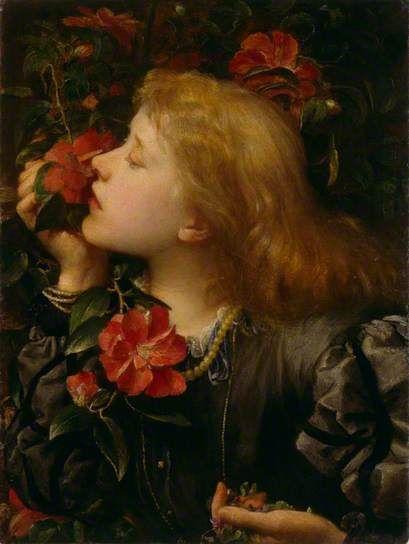 Ellen Terry ('Choosing') c. 1864 by G F Watts. Little Holland House, Kensington.