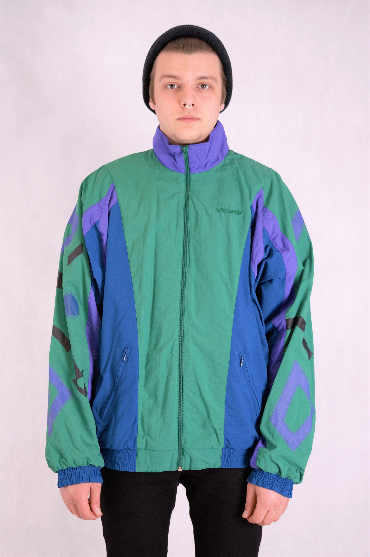 Vintage 90s Adidas Windbreaker, tracksuit jacket •Retro