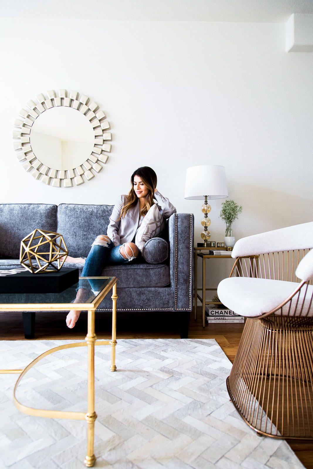 Chic and Glam Living Room | Pinterest | Glam living room, Living ...
