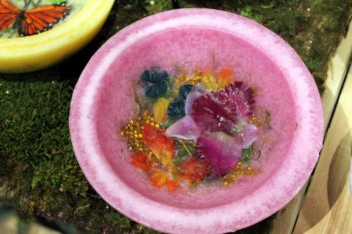 Radiant Orchid Waxed Vessel Bowl: Radiant Orchid: red ginger, orchid blossoms, amber, oud wood, $23.50