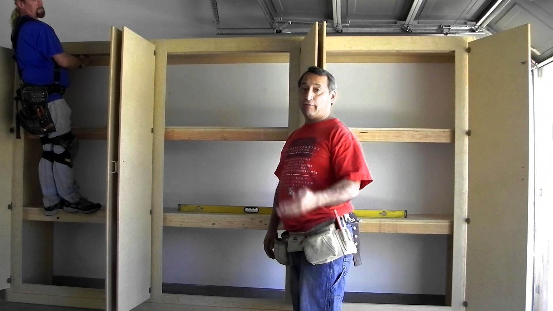 Mannyu0027s Organization Station HERCULEAN Garage Storage Cabinets.How To Build  The Strongest System. | Storage | Pinterest | Organization Station, Garage  ...