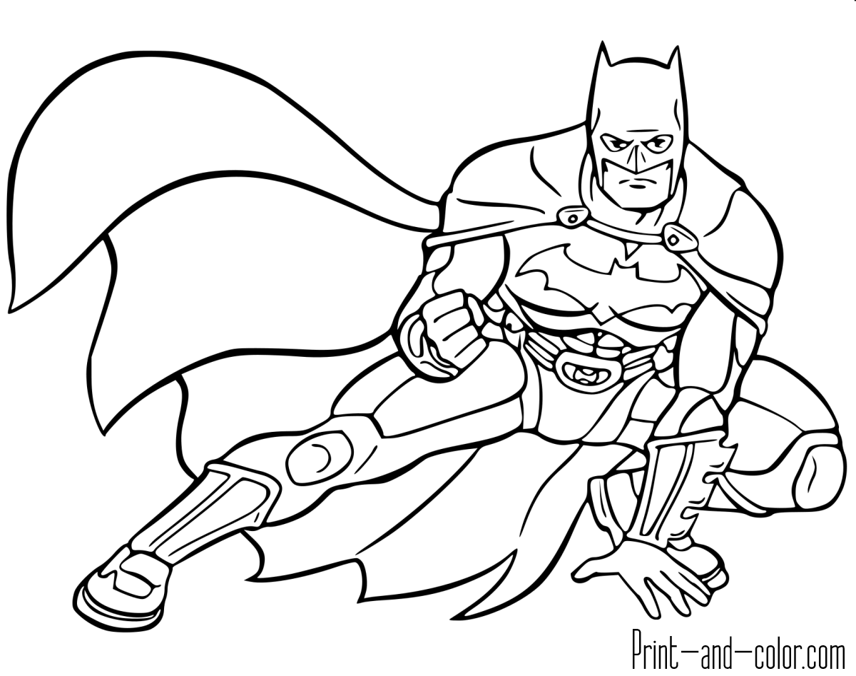 Batman Pose Coloring Sheet