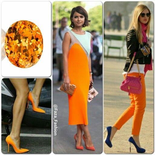 2015 Spring Summer Color Trends Tangerine هذي الدرجة من اللون البرتقالي هي احدى موضات موسم ربيع صيف ٢٠١٥ في الألوان باقي الدرجات م Fashion Capri Pants Pants
