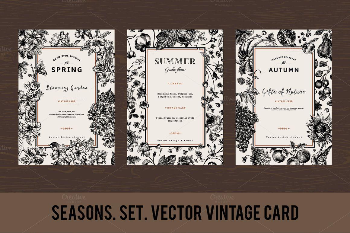 Spring. Summer. Autumn. Set. by olga.korneeva on Creative Market