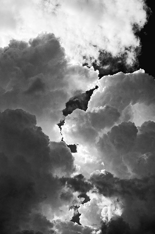 Tumultuous Cloudscape Img 0272 Black White Landscape Black