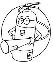 Fire Extinguisher Coloring Page Fire Safety Fire Safety For