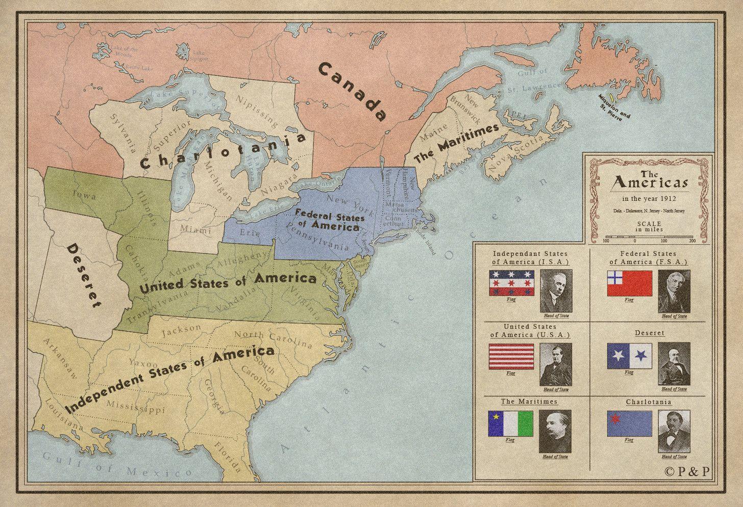 Alternate History Maps Of America