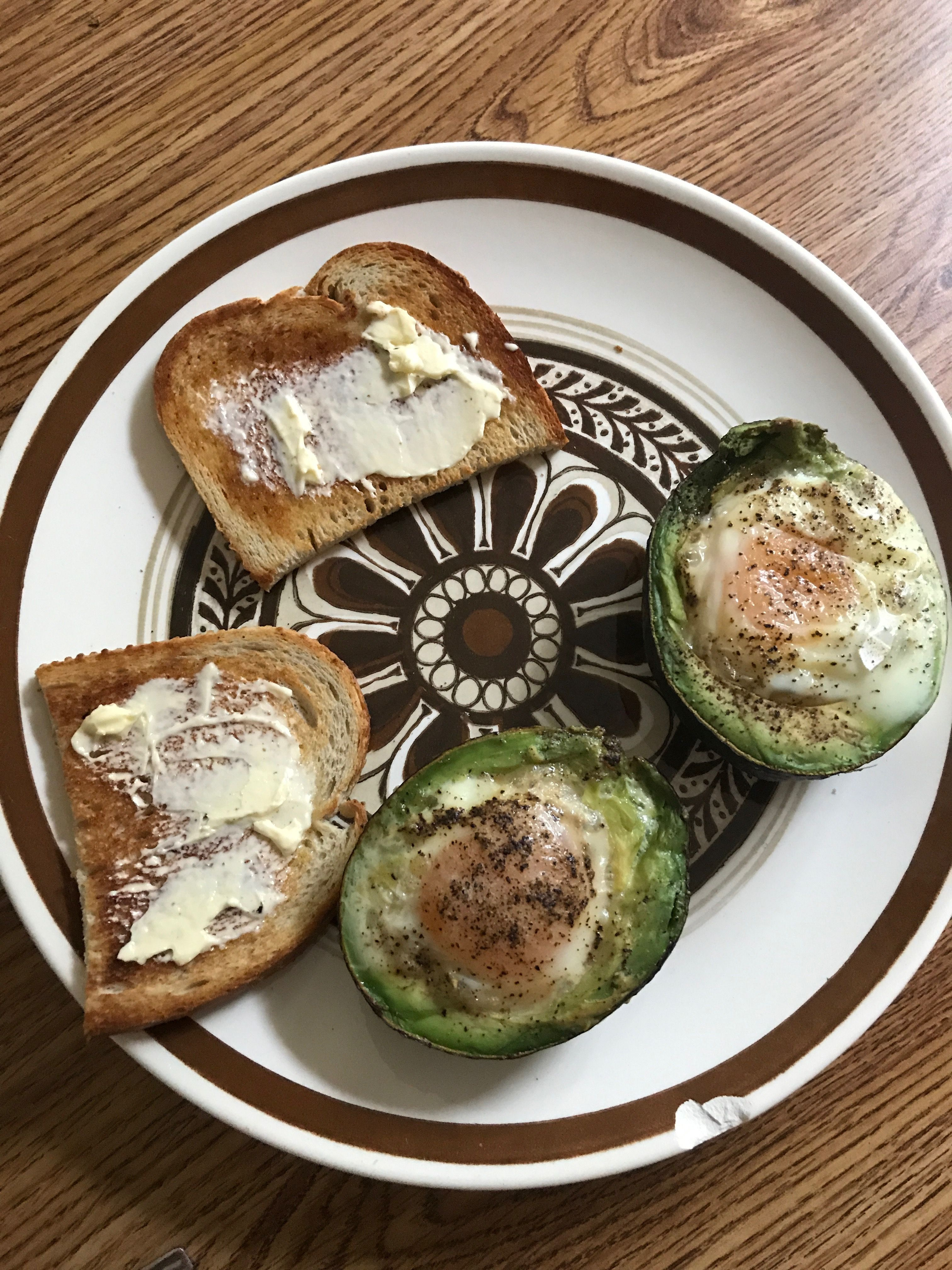 Avocado Eggs Baked