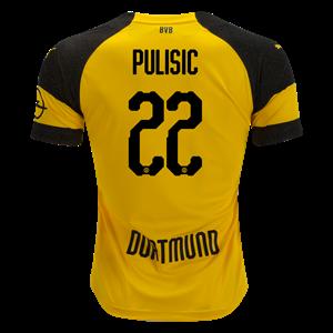 c5aeaa0913f PUMA Christian Pulisic Borussia Dortmund Home Jersey 18 19 - RV7004551001