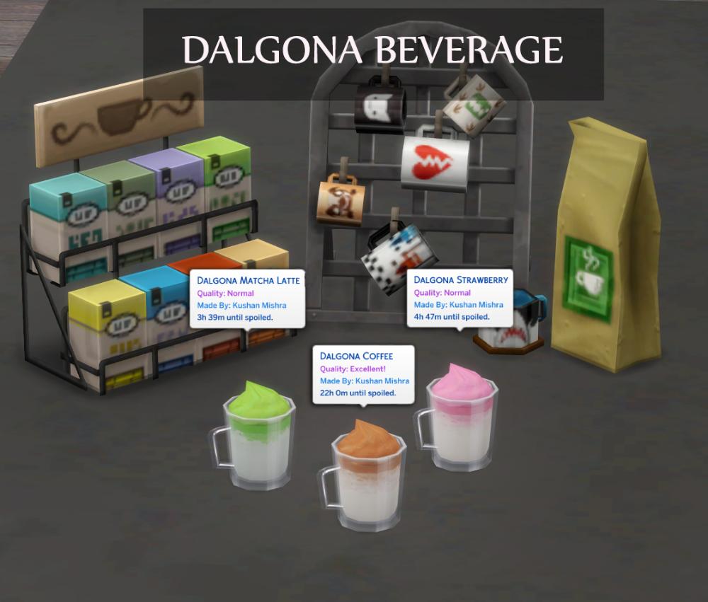 DALGONA CUSTOM DRINK in 2020 Alcoholic drinks, Matcha