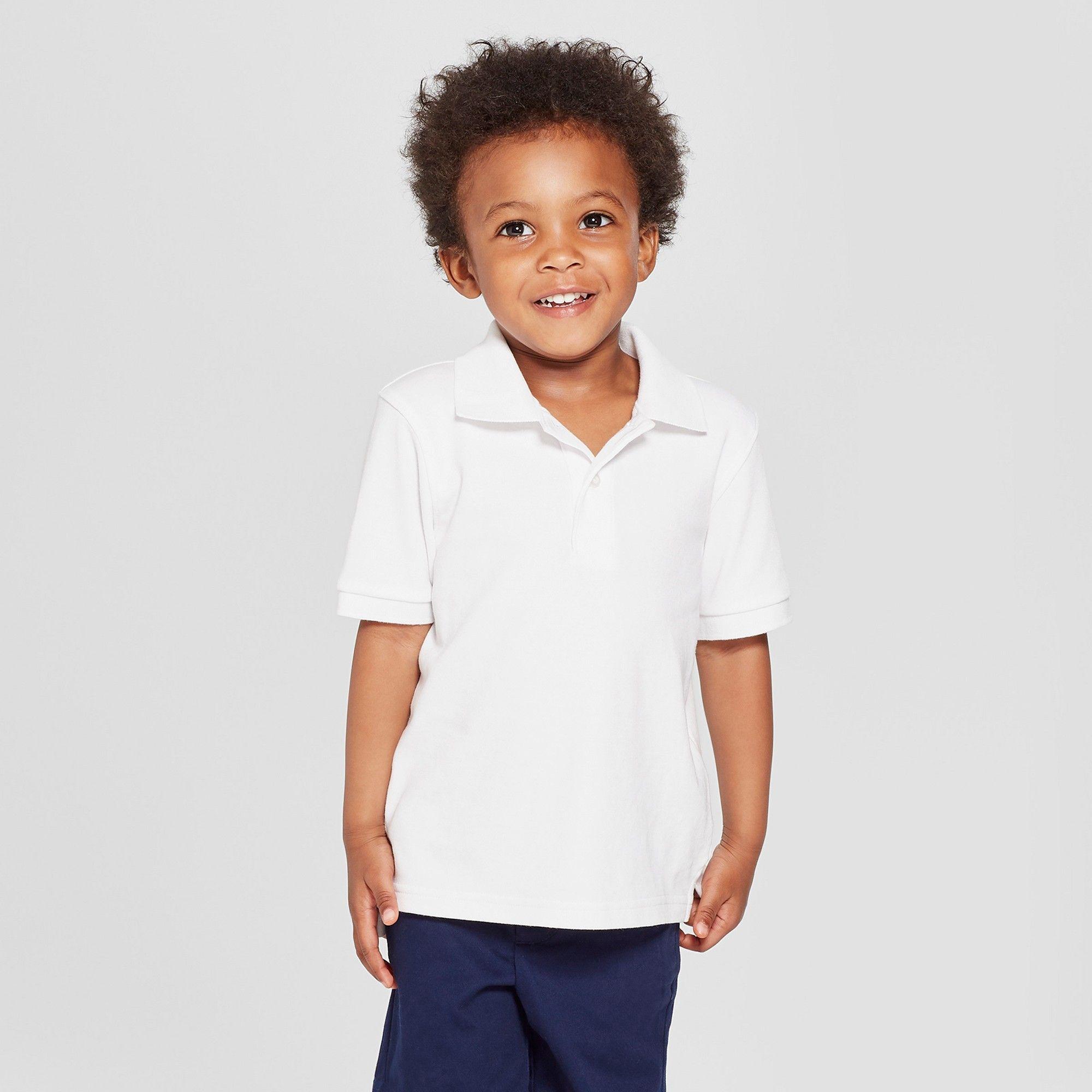 petiteToddler Boys' Short Sleeve Interlock Uniform Polo