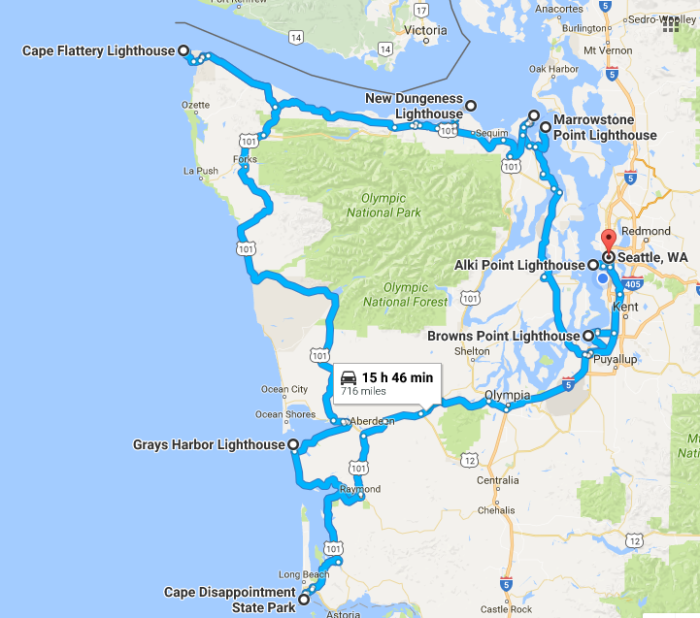 The Lighthouse Road Trip On The Washington Coast Thats Dreamily - Map of washington coast